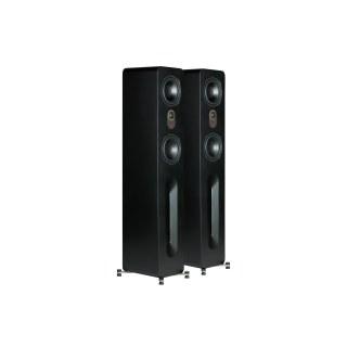 AperionAudio Novus T5 Tower Schwarz Seidenmatt ohne Abdeckung