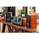 AperionAudio Verus III Grand Center Kirsche Furnier im Set im Wohnzimmer